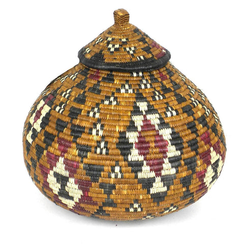 Zulu Wedding Basket -OS03 - Ilala Weavers-Baskets-Loluxe