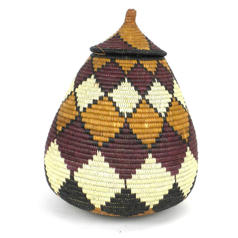 Zulu Wedding Basket -OS18 - Ilala Weavers-Baskets-Loluxe