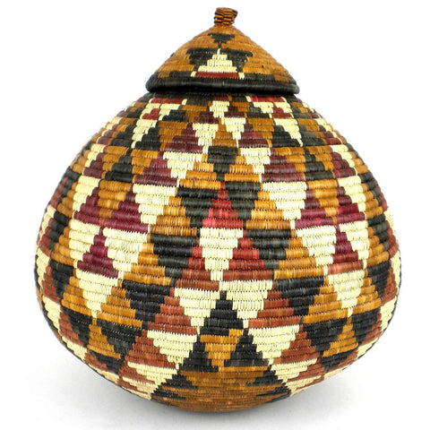 Zulu Wedding Basket -OS23 - Ilala Weavers-Baskets-Loluxe