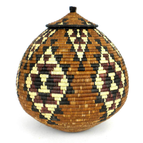 Zulu Wedding Basket -OS24 - Ilala Weavers-Baskets-Loluxe