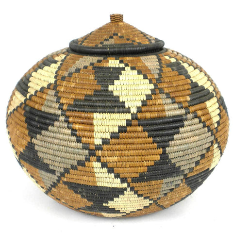 Zulu Wedding Basket -OS25 - Ilala Weavers-Baskets-Loluxe