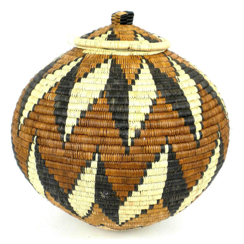 Zulu Wedding Basket -OS26 - Ilala Weavers-Baskets-Loluxe