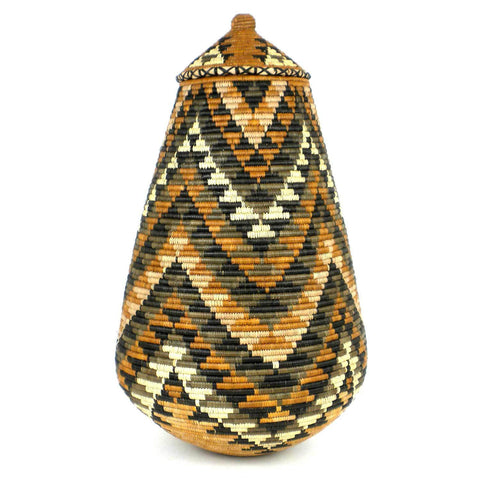 Zulu Wedding Basket -OS27 - Ilala Weavers-Baskets-Loluxe