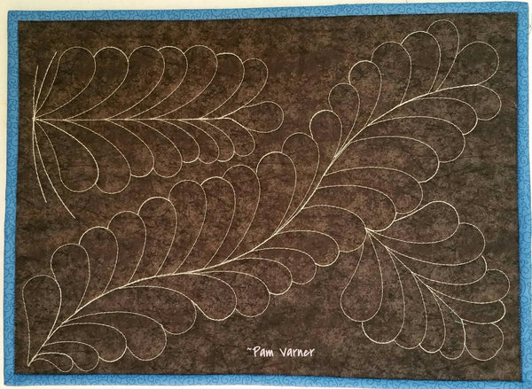 Basic Feathers with Westalee Templates by Pam Varner
