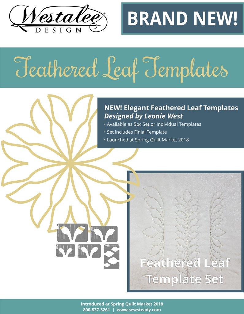 Westalee Design Feathered Leaf Template