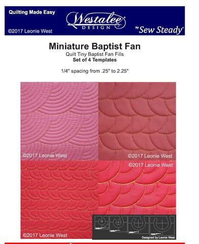 Miniature Baptist Fan Template