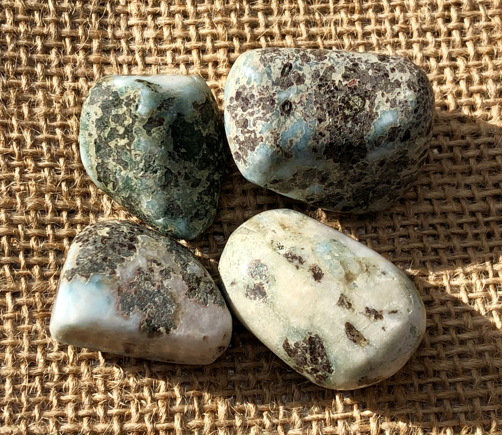Larimar Tumbled Stones - Willow Tree Soul Gifts