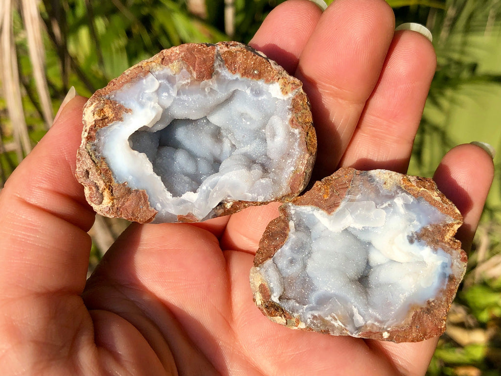 Blue Chalcedony Geode - Willow Tree Soul Gifts - 1