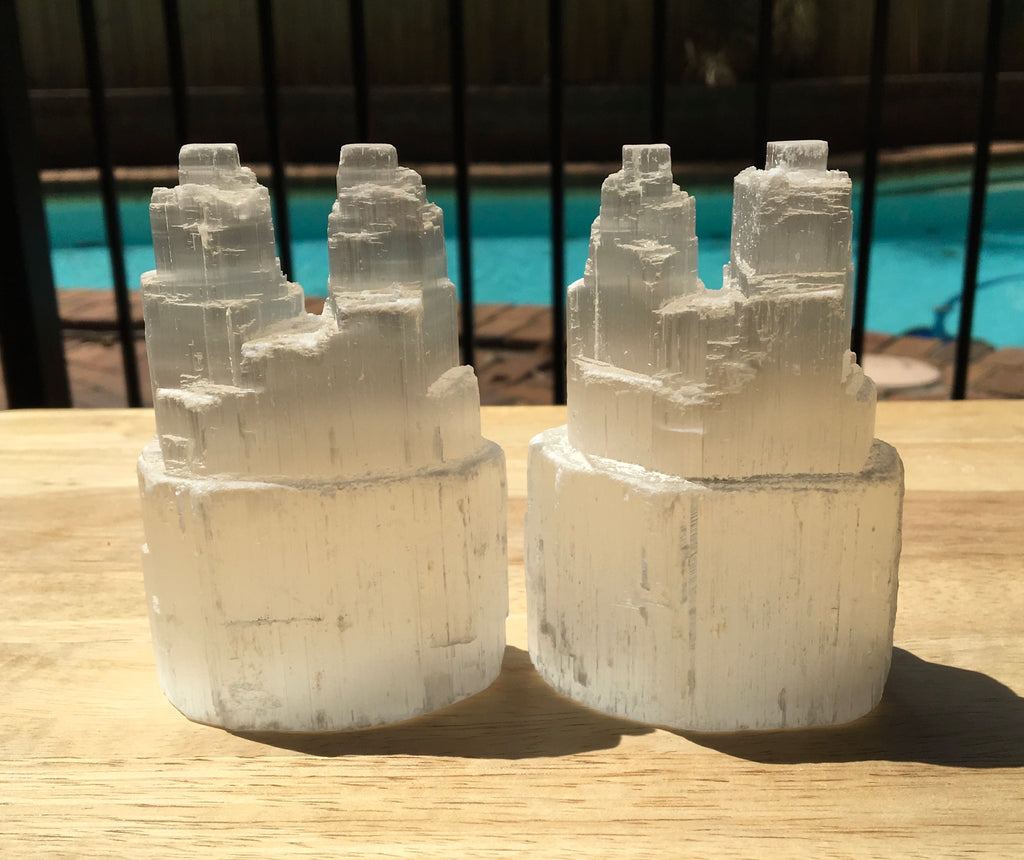 Selenite Twin Tower - Willow Tree Soul Gifts