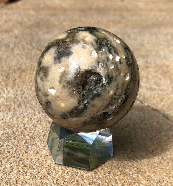 Ocean Jasper Sphere - Willow Tree Soul Gifts - 1