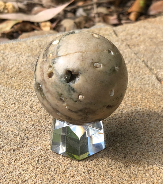 Ocean Jasper Sphere - Willow Tree Soul Gifts - 2