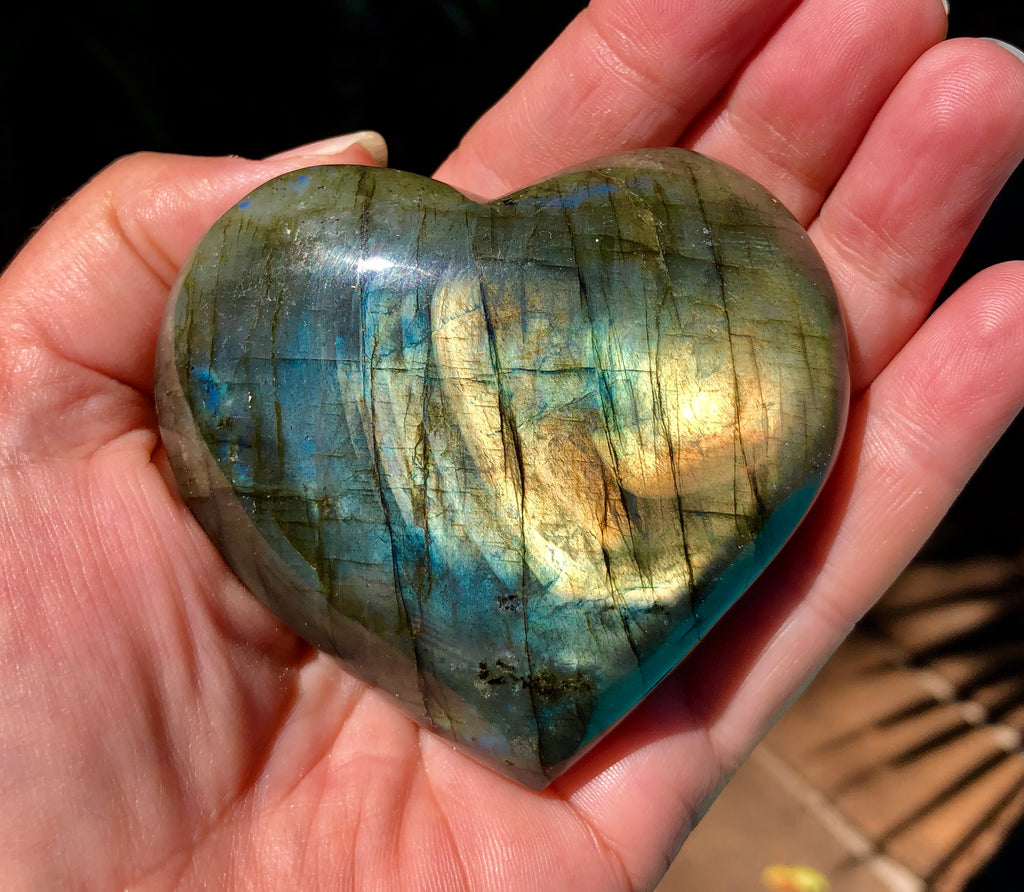 Labradorite Heart - Willow Tree Soul Gifts - 1