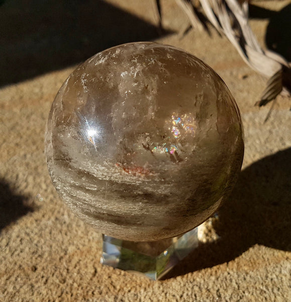 Smokey Rutilated Quartz Sphere - Willow Tree Soul Gifts - 1