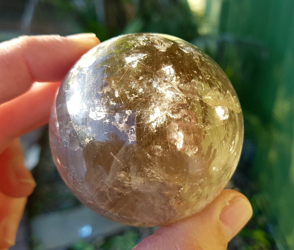 Smokey Rutilated Quartz Sphere - Willow Tree Soul Gifts - 2