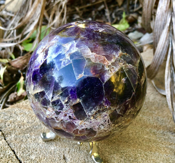 Chevron Amethyst Sphere - Willow Tree Soul Gifts - 1