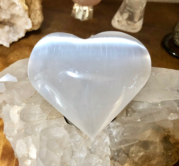 Selenite Heart - Willow Tree Soul Gifts