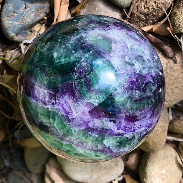 Rainbow Fluorite Sphere - Willow Tree Soul Gifts - 10