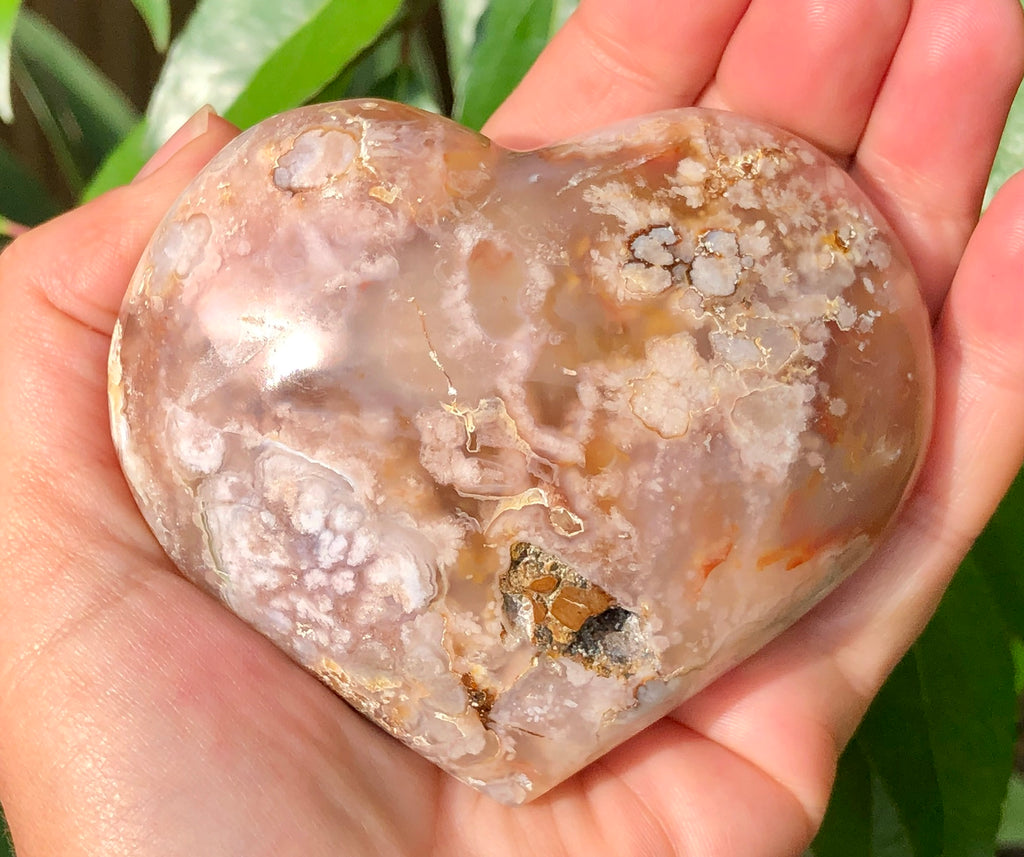Flower Agate Heart - Willow Tree Soul Gifts - 1