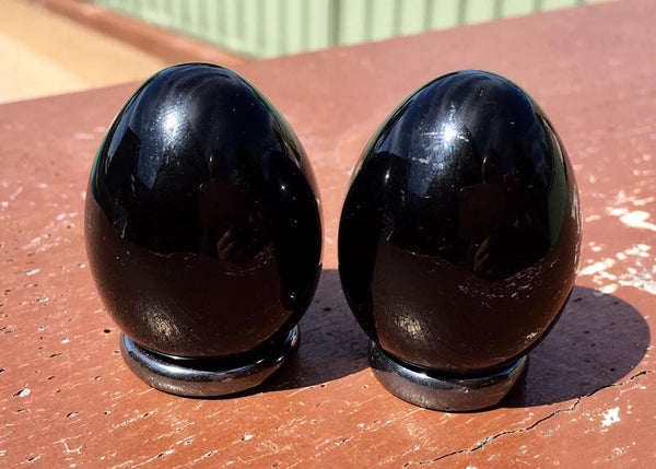 Black Obsidian Eggs - Willow Tree Soul Gifts