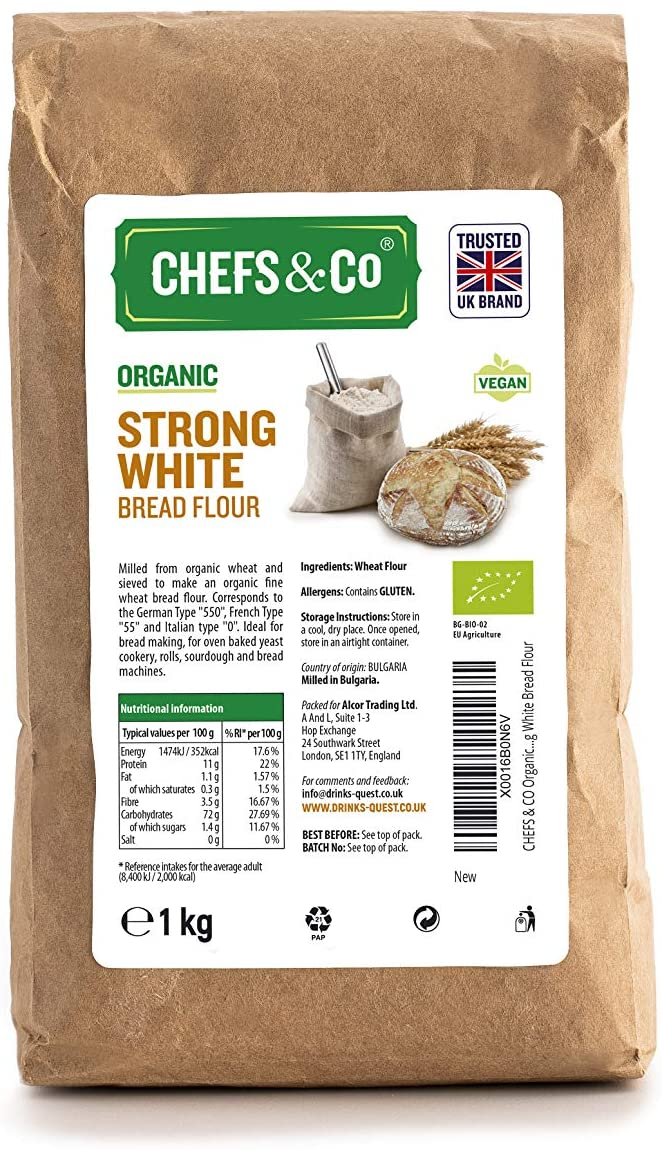 CHEFS & CO Organic Strong White Bread Flour -1kg