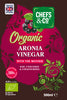 CHEFS & CO Organic Aronia Vinegar | with The Mother | Glass Bottle - 500 ml | Unfiltered | 4.5% Acidity |