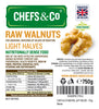 CHEFS & CO RAW WALNUTS - LIGHT HALVES - 750g.