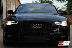 Aggressiv RS5 Front Bumper Grille, Blackout Mesh Style, Audi B8.5 A5/S5 (2013+)