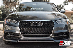 Aggressiv RS3 Front Bumper Grille, Mesh Style (Chrome Trim): Audi 8V A3/S3 (2015+)