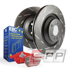 1 x ebcDP31518C EBC 06-13 Audi A3 2.0 Turbo (Girling rear caliper) Redstuff Rear Brake Pads 1 x ebcUSR1410 EBC 06-13 Audi A3 2.0 Turbo (Girling rear caliper) USR Slotted Rear Rotors