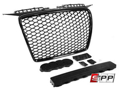 Aggressiv RS3 Front Bumper Grille, Mesh Style, Blackout, Audi A3 (2006-08) at Sequential Performance Parts for $ 254.99