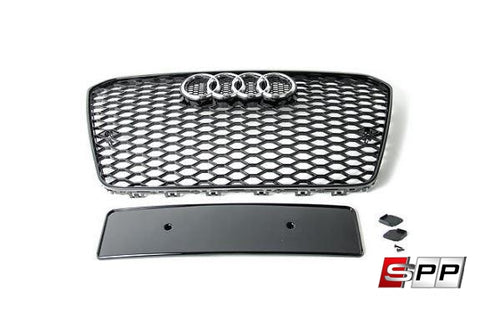 RS7 Bumper Grille, Blackout Mesh Style Grille, Audi C7.5 A7/S7 at Sequential Performance Parts for $ 288.99