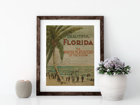 BEAUTIFUL FLORIDA - 8x10 LINEN PRINT - Sunshine State® Goods