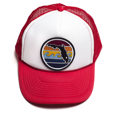 FLORIDA SUNSET TRUCKER - RED - Sunshine State® Goods