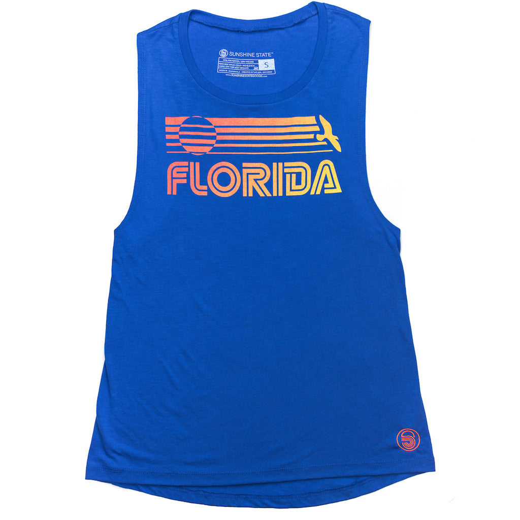 FLORIDA MUSCLE TANK - ROYAL - Sunshine State® Goods