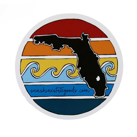 FLORIDA SUNSET STICKER - Sunshine State® Goods