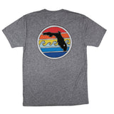 FLORIDA SUNSET TEE - HEATHER GREY - Sunshine State® Goods