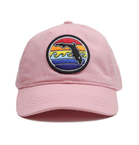 YOUTH FLORIDA SUNSET UNSTRUCTURED HAT - PINK - Sunshine State® Goods