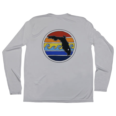 FLORIDA SUNSET LONG SLEEVE MENS SOLAR SHIRT