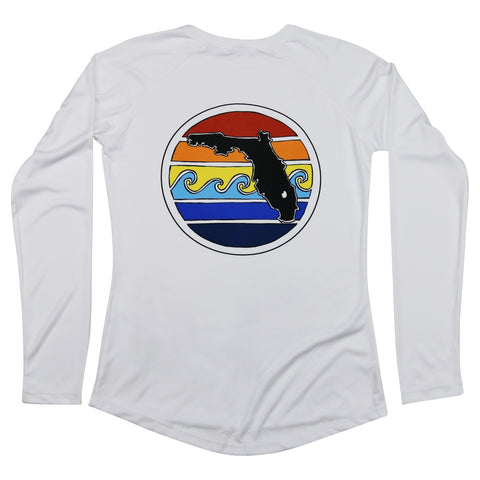 FLORIDA SUNSET LONG SLEEVE LADIES SOLAR SHIRT - Sunshine State® Goods
