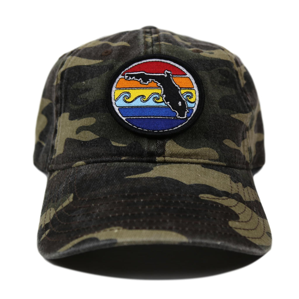 FLORIDA SUNSET UNSTRUCTURED HAT - CAMO