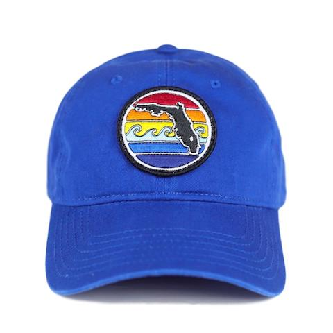 FL SUNSET UNSTRUCTURED HAT - ROYAL - Sunshine State® Goods
