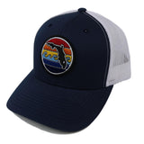 FLORIDA SUNSET YUPOONG TRUCKER HAT - NAVY - Sunshine State® Goods