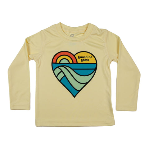 HEART TODDLER SOLAR SHIRT-YELLOW - Sunshine State® Goods
