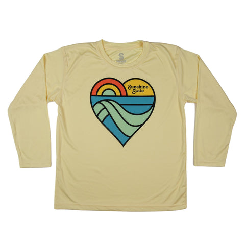 HEART YOUTH SOLAR SHIRT - YELLOW - Sunshine State® Goods