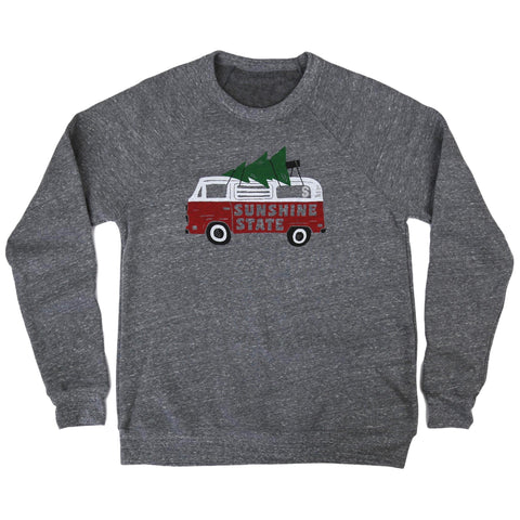 HOLIDAY ROAD UNISEX LONG SLEEVE SWEATSHIRT - HEATHER GREY