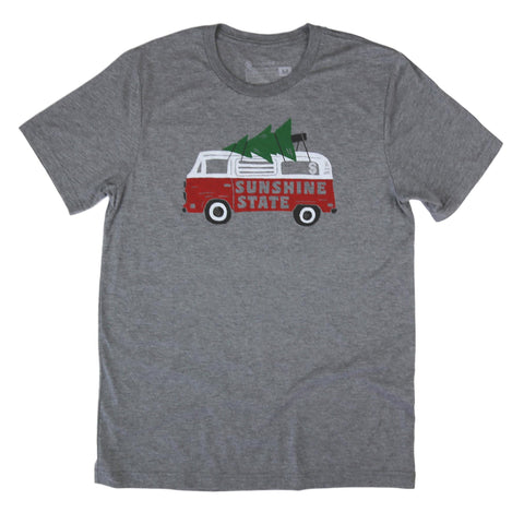 HOLIDAY ROAD UNISEX TEE - HEATHER GREY