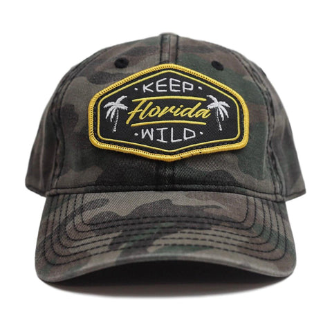 KEEP FL WILD UNSTRUCTURED HAT - CAMO - Sunshine State® Goods