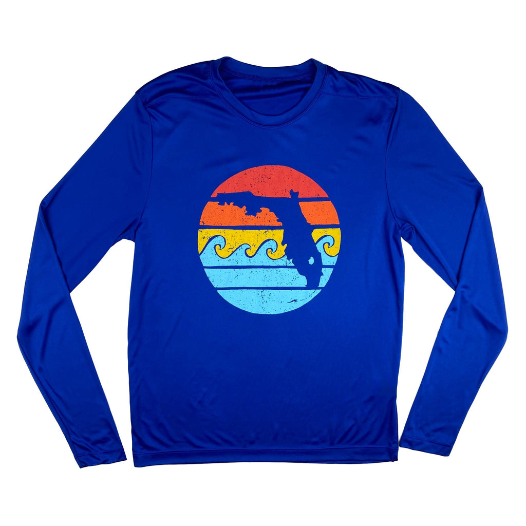 RETRO SUNSET YOUTH SOLAR SHIRT - ROYAL