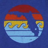 RETRO SUNSET YOUTH TEE - RETRO ROYAL - Sunshine State® Goods