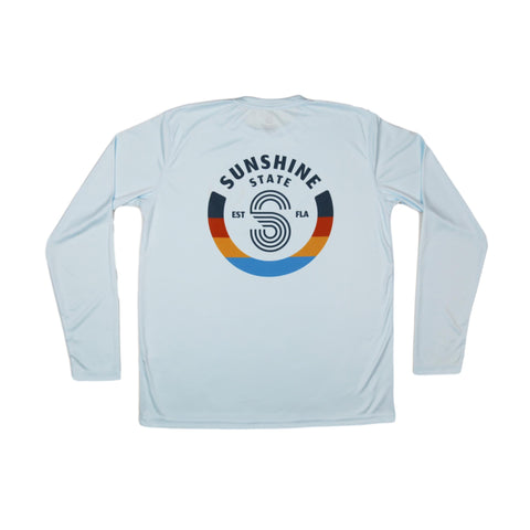 S BADGE YOUTH SOLAR SHIRT-ICE BLUE